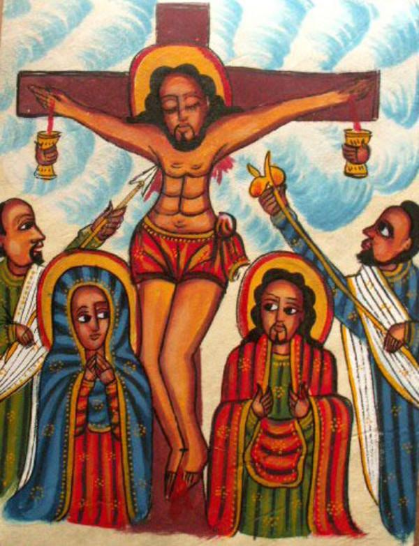 ethipoian crucifixion painting
