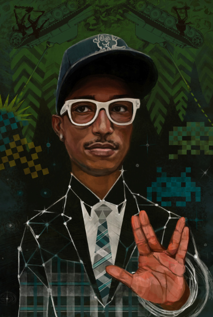 """Pharrell Williams, made it big with his Star Trek recording label & used the Kohaniim priestly gesture all the while. Is anyone else feeling """"out of the loop?"""",...well, you should."""