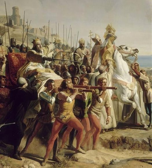 ...A more accurate depiction of Baldwin IV, king of Jerusalem during the Crusader period. The painting can be viewed in the Palace of Versailles(Hall of Crusades); Versailles: Paris, France