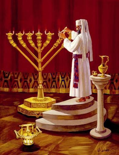Kohen-Priest-preparing-the-Menorah-images