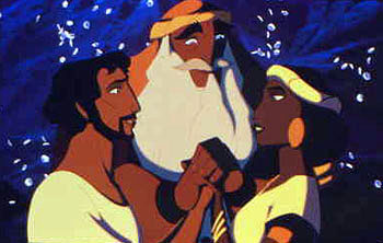 """Tzipporah; a wonderful example of a virtuos woman. This her being given to Moshe(Moses) by her father Yitro(Jethro) for marriage_from the animated movie """"Prince Of Egypt"""""""