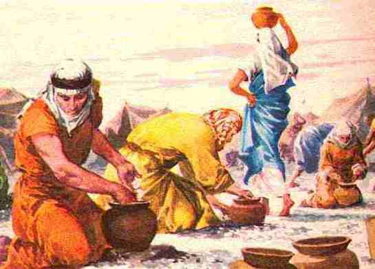 Image result for image of israelites and manna