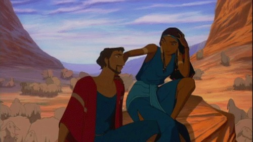 "a depiction of Moses 7 Ts'ipporah_ (from the Disney movie ""Prince of Egypt)"