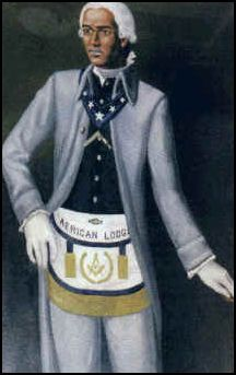 """Prince Hall, (ca. 1735 – 1807), a mason who started Freemasonry's AFRICAN LODGE #1 in the United States of America.  Has been dubbed the """"father African Freemasonry"""""""