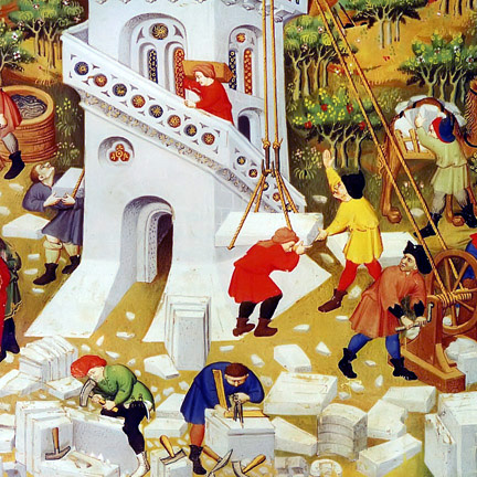 supposed painting of the Stone Mason's Guild_possibly 14th century