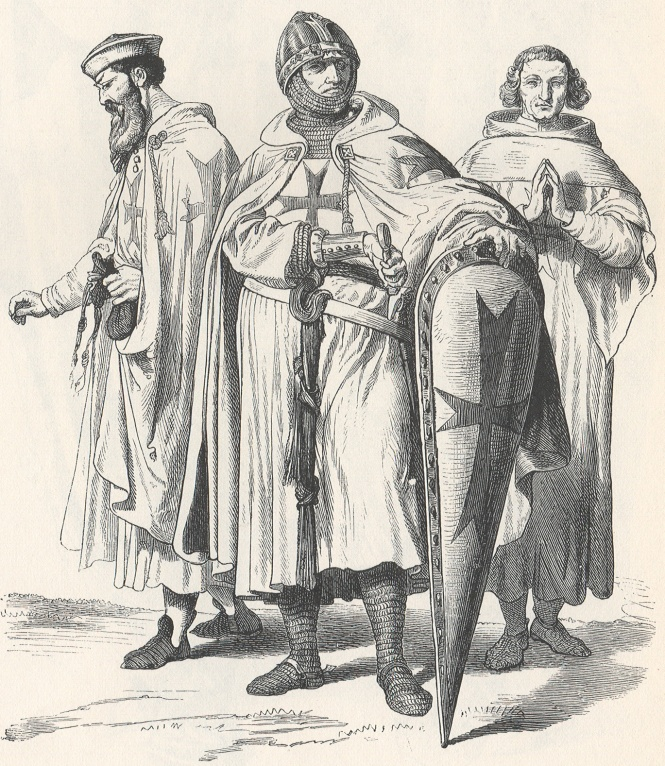 a depiction used to represent the Templar Kinghts in regalia(Knights Templar)