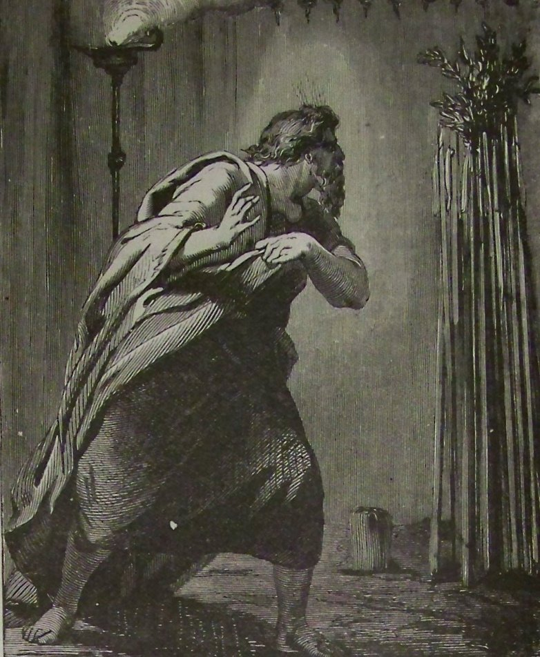 Moses finds (Aaron's Rod That Budded)_ illustration by the Holman Bible from 1890.