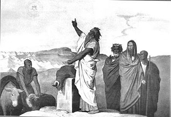 """""""...Let me die the death of the righteous, and let my end be like his..."""" [Numb. 23: 10]  Balaam blessed Israel in front of the king of Moab."""
