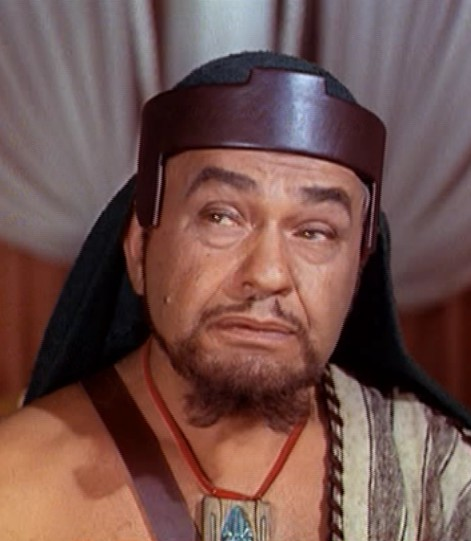 (Ten Commandments character) of Dathan-דתן  was played by Edward G. Robinson (Robinson, was born Emmanuel Goldenberg, of Romanian-Jewish descent) _[1956 Paramount award winning-movie Ten Commandments by Cecile B. DeMille presents a skewed version of the story dealing with Dathan, when compared to Biblical reference; but still a very entertaining production, to this day...]