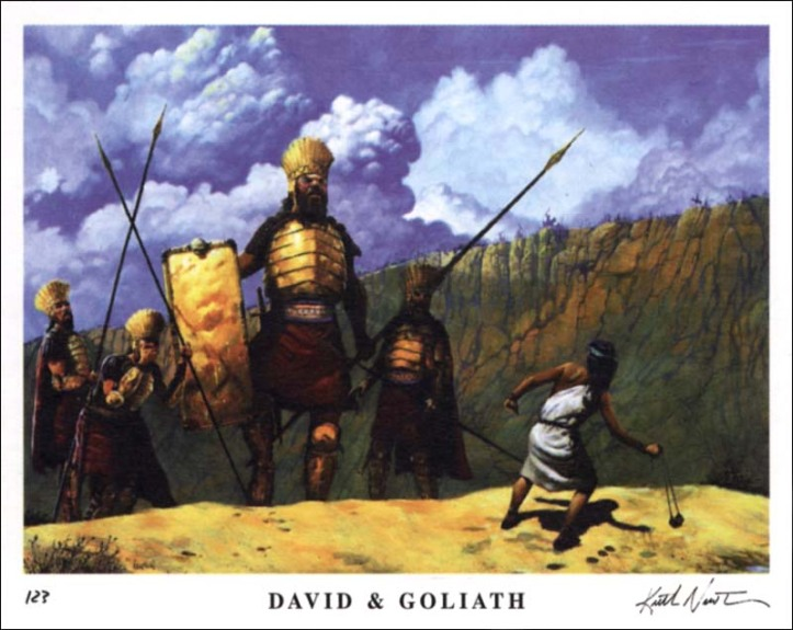 Goliath the Philistine; possibly from among the children of Anak??