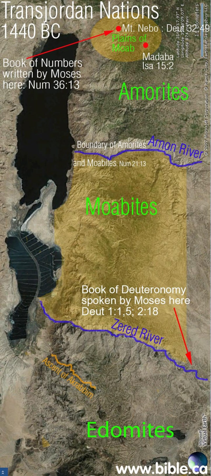 Bible.ca, presents possible exact points of interest in where the March of Israel could've taken place.