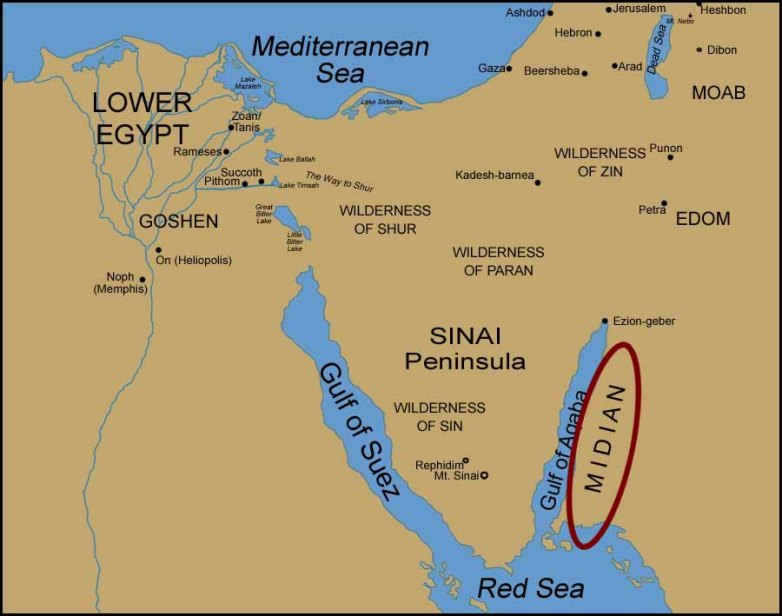 A general presumption of the whereabouts of Midian
