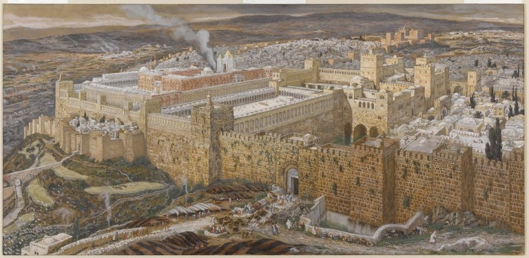Painting of the Temple of Jerusalem in the Brooklyn Museum by James Tissot