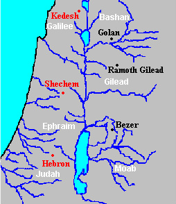 East of Jordan-Cities of Refuge (Golan-Ramoth-Bezer0