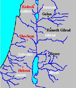 East of Jordan-Cities of Refuge (Golan-Ramoth-Bezer0