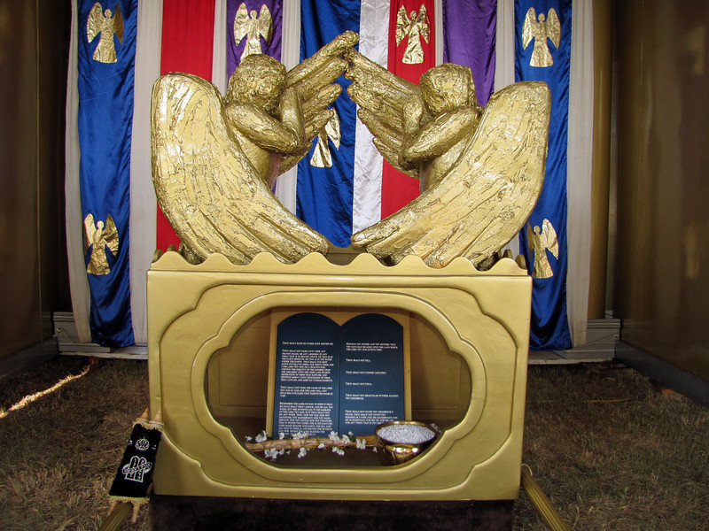 A remodeling of the items that were inside, the Ark of the Covenant _by the  Messiah's Mansion Traveling Tabernacle Exhibit