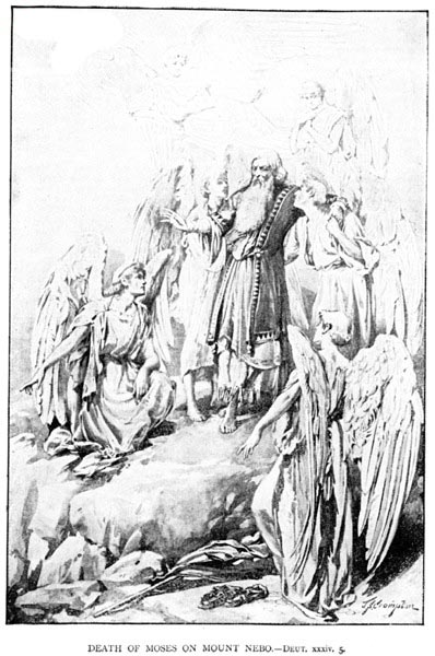 Death of Moses On  Mount Nebo _ [illustration by James Shaw Crompton]