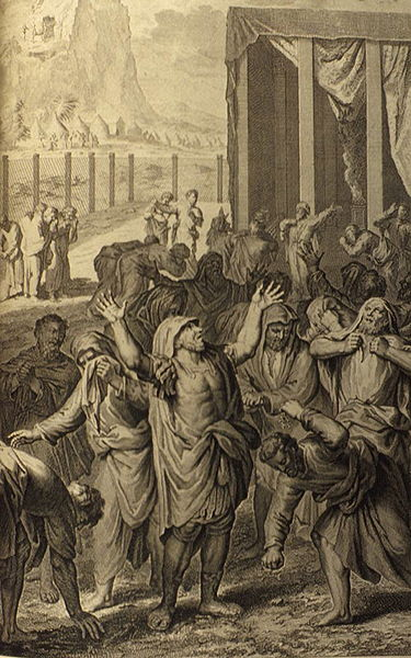 The Israelites Mourn for Moses _ [illustration from the 1728 figures de la Bible]