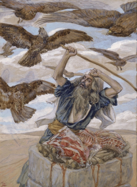 lech lecha - parsha [Tissot_Abram_Guarding_His_Sacrifice]