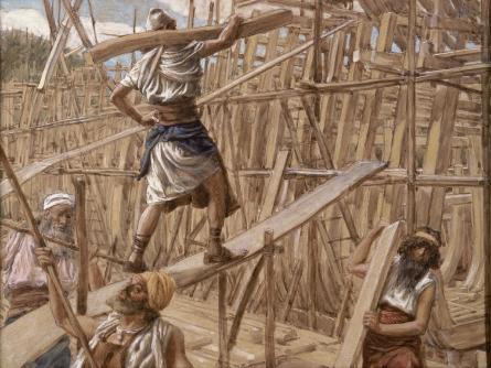 Building of the Ark _ painting by James Tissot