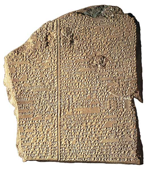 stone table recalling the Gilgamesh Epic_ from the Cunieform