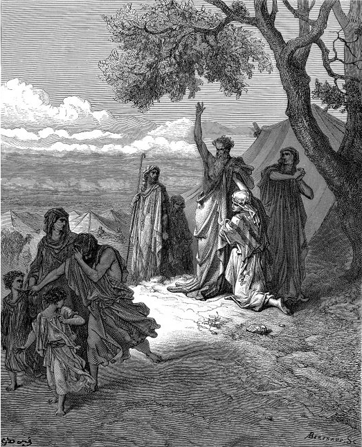 Noah Cursing Canaan _ illustration by Gustave Dore' from the 1865 la Sainte Bible