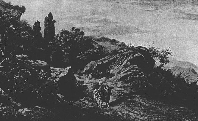 Abraham Climbs Mount Moriah _illustration by Schirmer from the 1908 Bible, One Thousand Picture Lessons