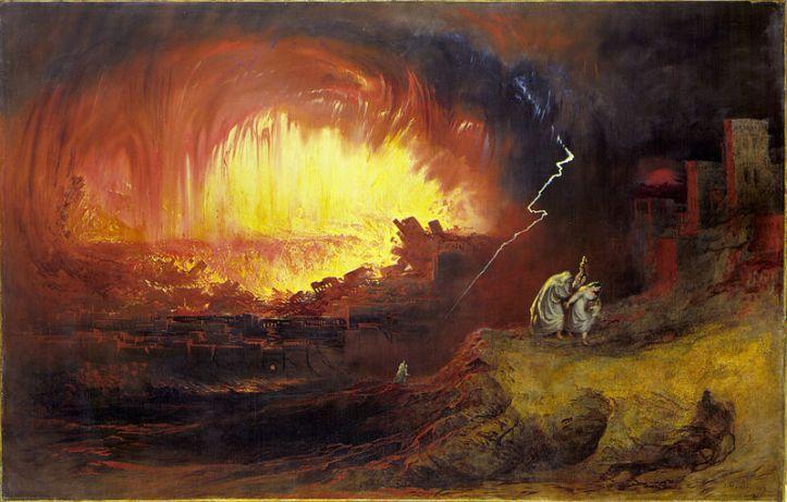 Destruction of Sodom & Gomorrah _ painting by John Martin
