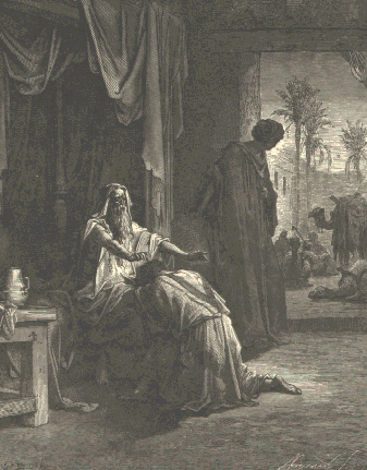 Isaac blessing Jacob  -by Gustave Dore' from the 1865 La Sainte Bible