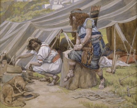 Jacob (L) & Esau (R) _ painting by James J. Tissot
