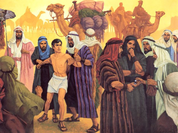 Joseph sold by his brother to Midianites