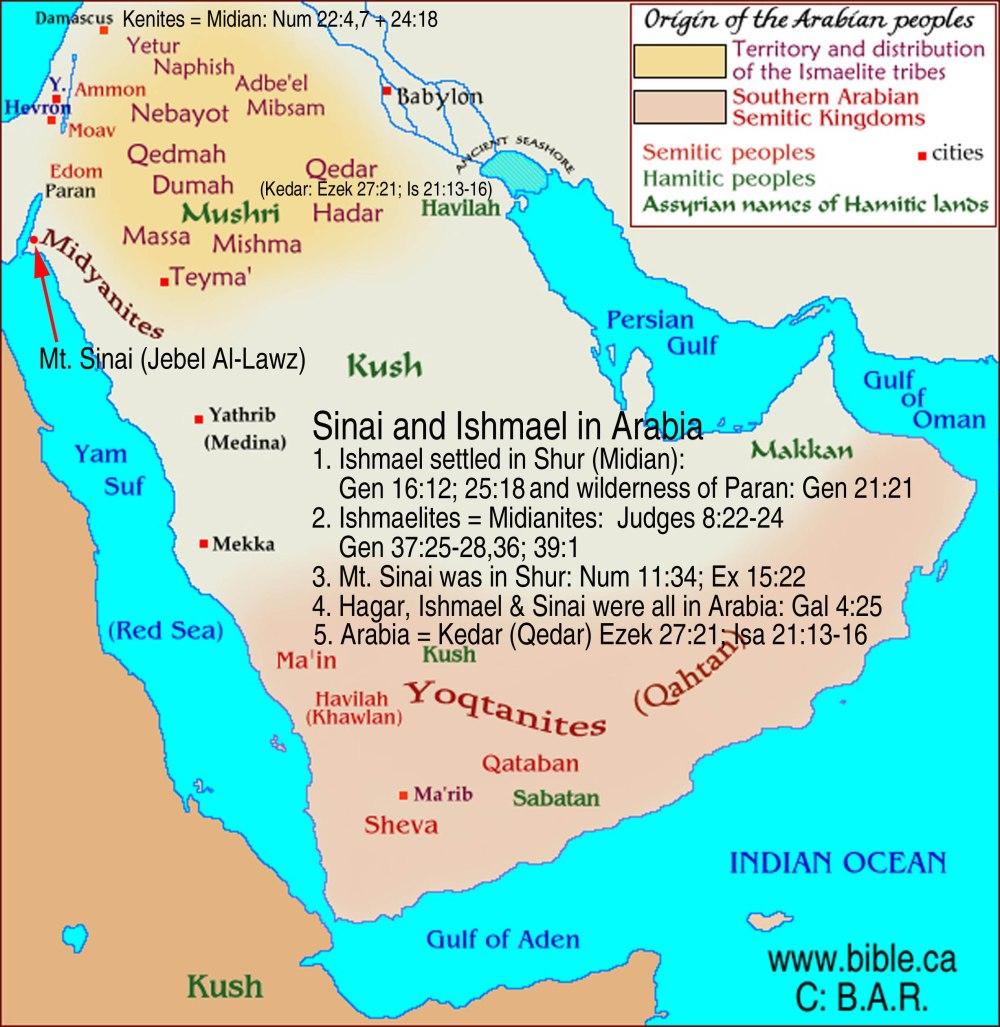 shemot - parsha [maps-bible-archeology-exodus-arabia-midianites-ishmaelites]