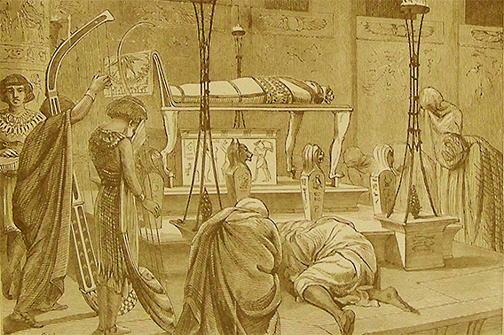 Burying the body of Joseph _illustration from the 1890 Holman Bible