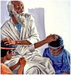 Jacob(Israel) blesses Manasseh & Ephraim.