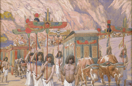 Jacob's Body Taken To Canaan _painting by James J. Tissot