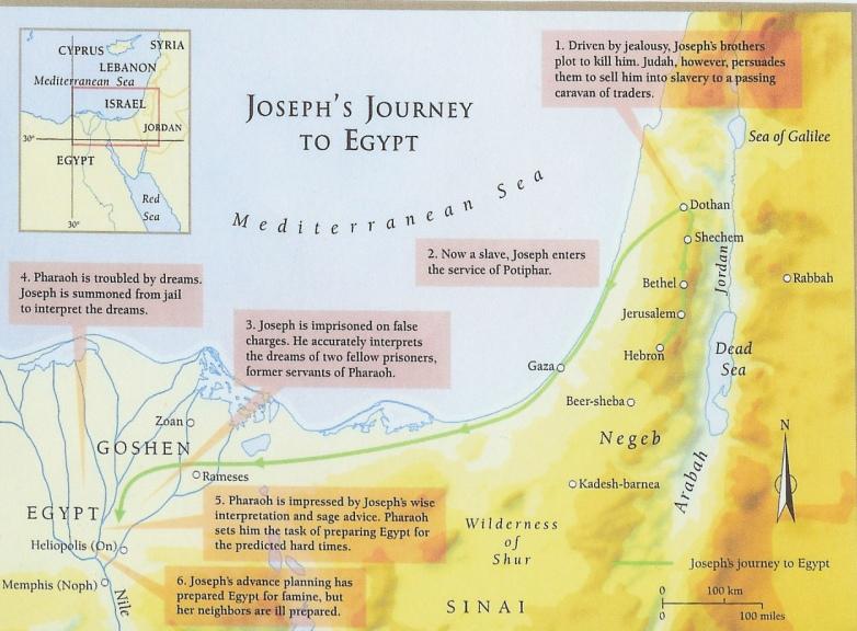 wayechi - parsha [joseph's journey to egypt]
