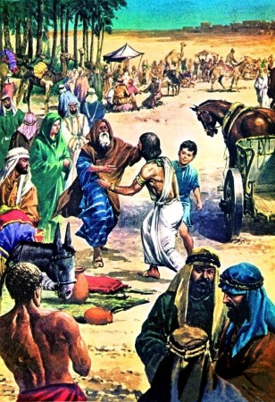 Jacob(Israel) reunites with his son Joseph