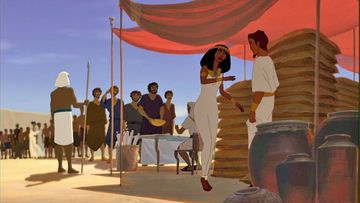 Yosef(Ts'afnat Paa'neachk) & his wife Asenath welcome in the Hebrews