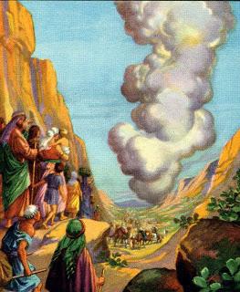 God's Pillar Leading the Israelites Exodus 13:21-22