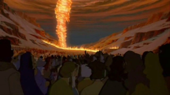 beshalach - parsha [the-prince-of-egypt(the Pillar of Fire)]