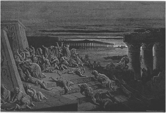 Ninth Plague of Egypt - Darkness _ painting by Gustave Dore