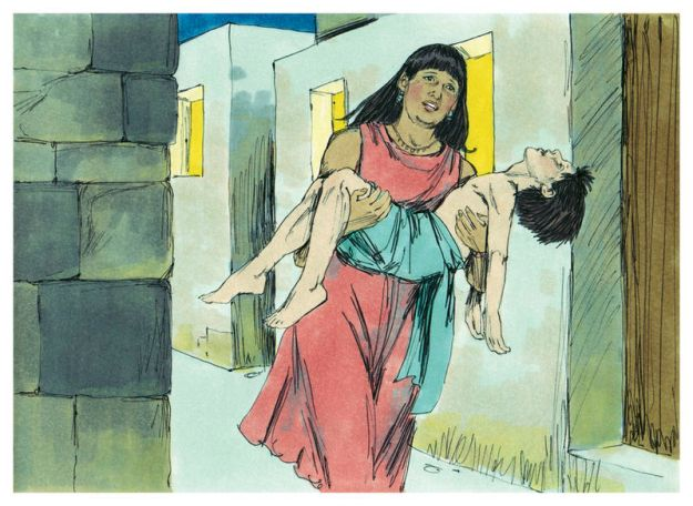 There was not one home in Egypt in which a son had not died. (1984 illustration by Jim Padgett)