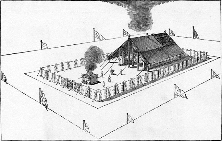 Tabernacle Israelites Built(illustration from 1897 Bible Pictures and What They Teach Us by Charles Foster)