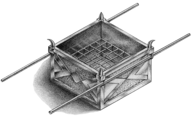 Altar of Sacrifice. [Ex. 27: 1-8]