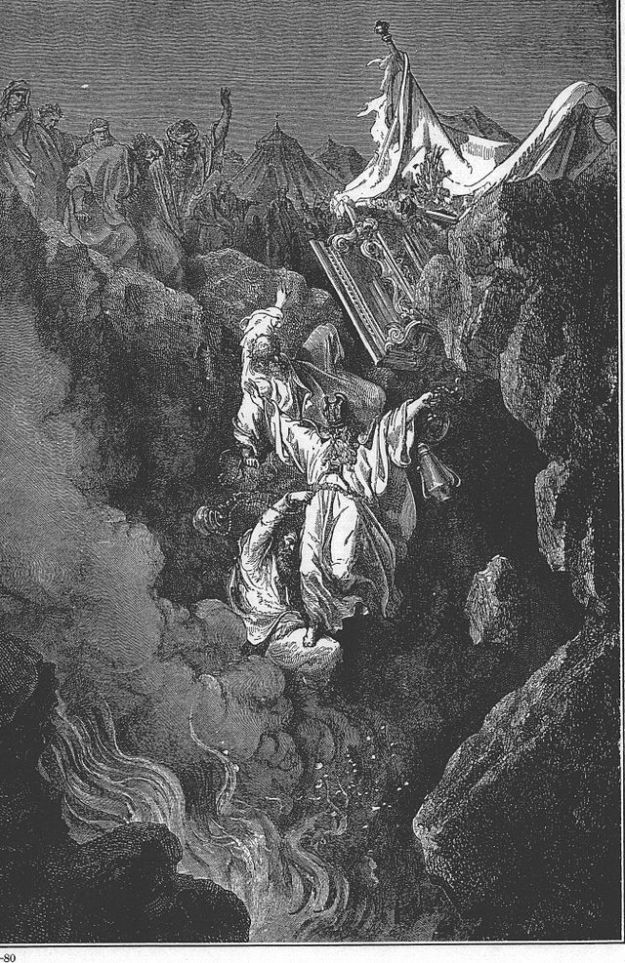 The Earth Swallows Up (Death of Korah's Rebellion) _painting by Gustave Dore'