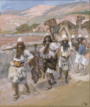 Grapes of Canaan (Joshua & Caleb depicted) _ painting by James Jaques Tissot