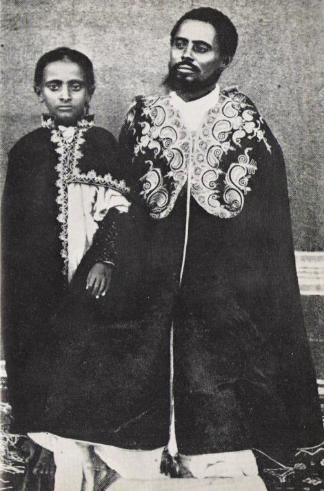 Lidj Teferi with his father Ras Makennin.