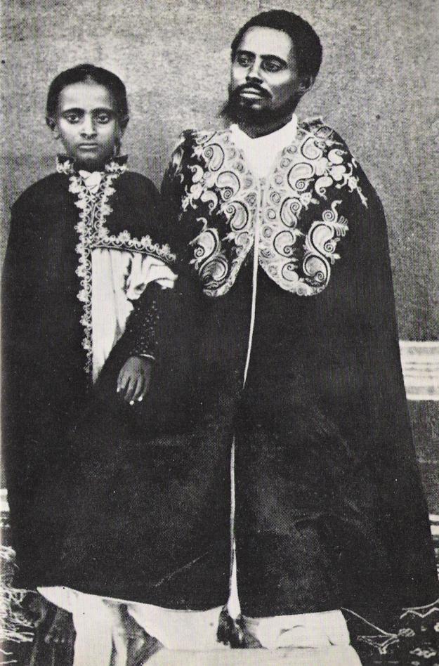 Lidj Teferi with his father Ras Makennin.