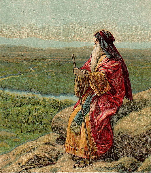 Moses atop Mount Abarim