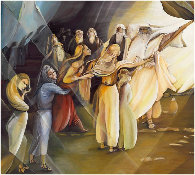 The Daughter of Zelophehad _ painting by Iris Wexler